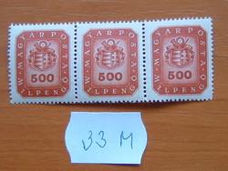 500 MILPENGŐ 1946 CÍMER 3-S SOR 33M