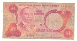 1 naira 1979-84 Nigéria 5. signo