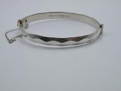 KK1160 Geometrikus mintájú ezüst karperec 925 fémjelzett karkötő karlánc