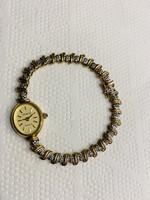 Eladó Gyönyörű Brill Köves Női Arany óra !