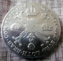 Ag II. Ferenc Korona Tallér 29,3 gramm T1-2  1795 Osztrák-Németalföld