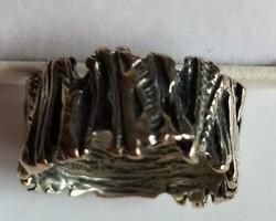 Izraeli ezüst gyűrű, különleges, ötvös munka