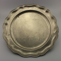 Ezüst fém tálca - Vintage fali dekoráció
