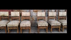 6 db neoreneszánsz étkező szék, garnitúra