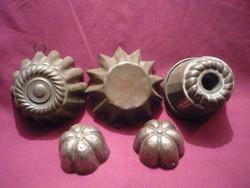 Antik cukrász sütő formák  2104 15
