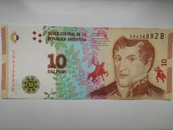 Argentina 10 pesos 2016  UNC