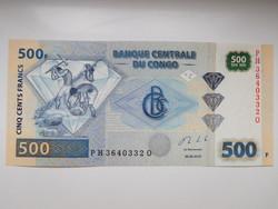Kongói Dem Közt  500 francs 2013 UNC