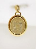 Arany ikrek horoszkóp medál (ZAL-Au95317)