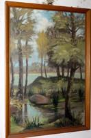 Antik szignált festmény 801