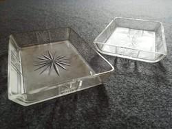 Csiszolt üveg -  kristály kínálótálkák