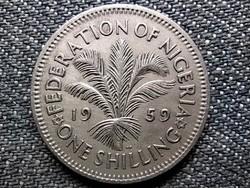 Nigéria II. Erzsébet (1952-1959) 1 shilling 1959 (id48367)