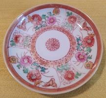 Régi kínai porcelán kávés tányér - 12 cm.