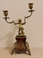 Old boulle candlestick