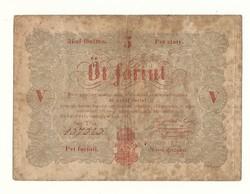 1848 as 5 forint Kossuth bankó papírpénz bankjegy 1849 szabadságharc pénze sor TS n