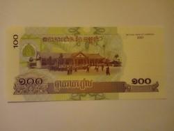 Unc 100 Riels Kambodzsa 2001  !!