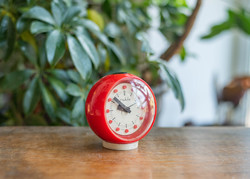 Ruhla ébresztőóra - piros retro vekker - csak dekornak