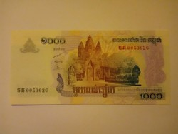 Unc 1000 Riels Kambodzsa 2007  !!