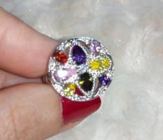 Gyönyörű, köves, 925 jelzésű gyűrű 9