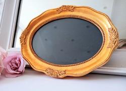 Rózsás ovális kis képkeret üveggel 14x18.5cm