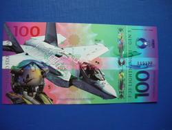 USA LÉGIERŐ 100 DOLLÁR 2017 VADÁSZREPÜLŐGÉP! F-35 LIGHTNING II! RITKA FANTÁZIA PAPÍRPÉNZ!
