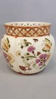 Zsolnay kézzel festett porcelán kaspó