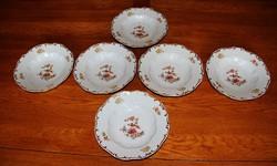 Zsolnay paradicsommadaras mély tányér 6 db