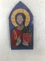 Kézzel festett ikon fa táblán.