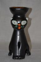 Iparművészeti kerámia macska