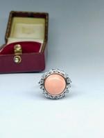 Korall Gyűrű Gyémantokkal
