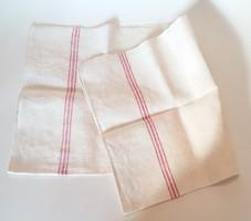 Régi konyhai textil vintage törölköző lenvászon csíkos konyharuha