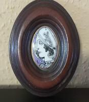Szász Endre porcelán medál