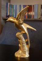 Réz szobor madár