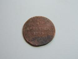 1/4 kreutzer 1792 B R!