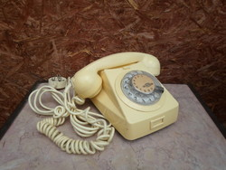 Vintage Vezetékes - Tárcsás Telefon - Mechanikai Művek
