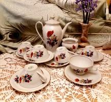 GDR . Pipacsos teás, kàvés kèszlet