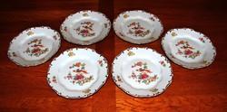 Zsolnay paradicsommadaras lapos tányér 6 db.