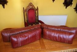Kanapé, fotel bőr hát támla, derék kiemelő, hát támaszték 4 db.