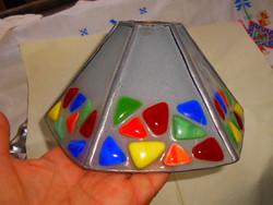 Kézműves egyedi lámpa búra üvegmozaik díszítéssel