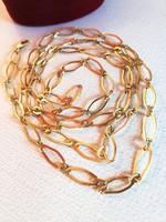 Hosszú aranyozott ezüst nyaklánc ( 1 méter)