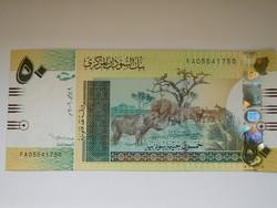 Szudán 50 pounds 2006 UNC A legnagyobb Címlet!