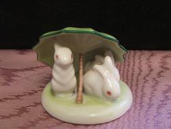 Drasche esernyős porcelán nyuszik