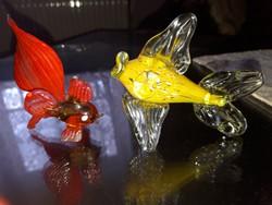 Muránói üveg harcos - aranyhal
