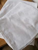 RITKA Antik régi damaszt ágynemű garnitúra pár tűpettyes paplanhuzat párna huzat 198 x 150