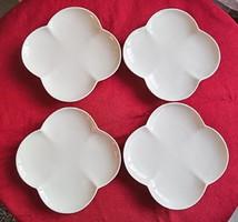Fehér csontporcelán süteményes tányérok 4db