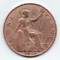 Britannia 1 angol peny, 1921