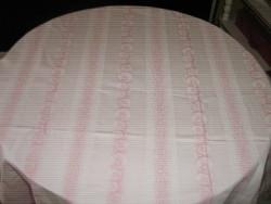 Csodaszép vintage rózsaszín hatalmas damaszt terítő