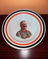 I.Világháborús Porcelán Fali Tál II.Vilmos  1914-16
