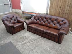Chesterfield szófa és fotel