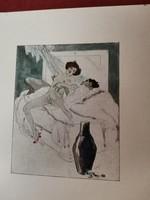 Sokszorosított erotikus litográfia!