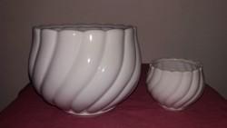 Porcelán kaspó páros
